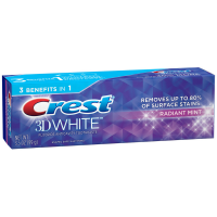Crest 3D White Fluoride Anticavity Toothpaste, Radiant Mint 3.50 oz [037000947714]
