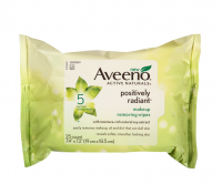AVEENO Active Naturals Positively Radiant Makeup Removing Wipes, 25 ea [381371157198]