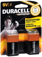 Duracell Coppertop Alkaline Batteries 9 Volt 2 Each [041333216010]