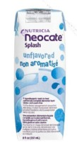 Neocate Pediatric Oral Supplement Splash Unflavored 8 oz Box Ready to Use - 1 ea [749735044513]