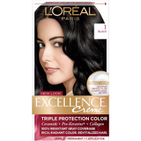 L'Oreal Paris Excellence Creme Hair Color, [1] Black 1 ea [071249121429]
