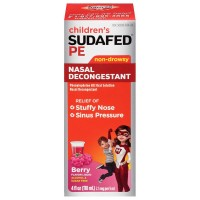 SUDAFED PE Children's Nasal Decongestant Liquid, Berry 4 oz [300450537041]