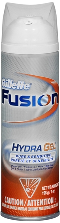 Gillette Fusion Hydra Gel Pure & Sensitive 7 oz [047400313842]