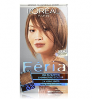 L'Oreal Paris Feria Multi-Faceted Shimmering Color, Light Iridescent Brown [62] (Warmer) 1 ea [071249230404]