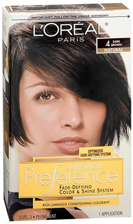 L'Oreal Superior Preference - 4 Dark Brown 1 Each [071249253038]
