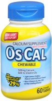 Os-Cal 500+D Chewable Tablets Sugar Free Light Lemon Chiffon 60 Tablets [300881663012]