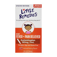 Little Remedies Infant Fever/Pain Reliever Liquid Dye-Free Natural Berry Flavor 2 oz [756184101766]