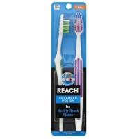 REACH Advanced Design Toothbrushes Soft Full Head Value Pack 2 ea [381370073307]