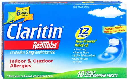 CLARITIN 12 Hour Reditabs 5 mg Orally Disintegrating Tablets 10 Tablets [041100805546]