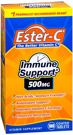 Ester-C 500 mg Coated Tablets 180 Tablets [025077169733]