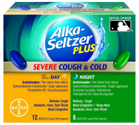 Alka-Seltzer Plus Day & Night Severe Cough & Cold Liquid Gels 20 Liquid Gels [016500554448]