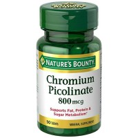 Nature's Bounty Mega Chromium Picolinate 800 mcg tablets 50 ea [074312026034]