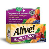 Alive! Nature's Way Once Daily Women's 50+ High Potency Multivitamin 50 ea [033674602430]