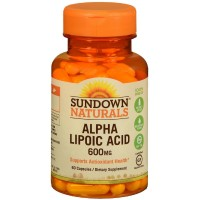 Sundown Naturals Super Alpha Lipoic Acid, 600mg, Capsules 60 ea [030768179656]