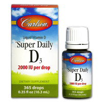 Carlson Labs Super Daily D3 2000IU Supplement 0.35 oz [088395012808]