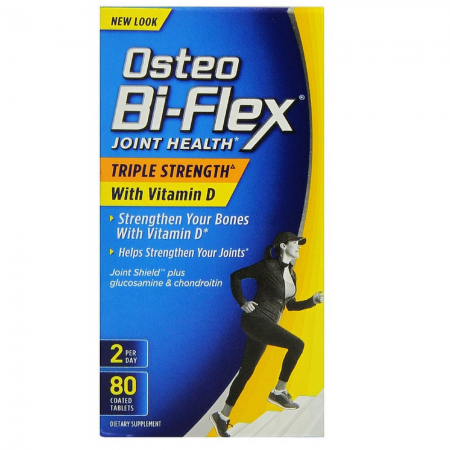 Osteo Bi-Flex Advanced Triple Strength with Vitamin D3, Caplets 80 ea [030768196073]