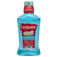 Colgate Total Gum Health Antiplaque Mouthwash, Clean Mint 16.90 oz [035000671530]