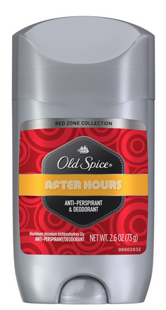 Old Spice Red Zone Anti-Perspirant Deodorant Invisible Solid After Hours 2.60 oz [012044006740]