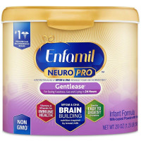 Enfamil NeuroPro Gentlease Infant Formula - Brain Building Nutrition Inspired by breast milk - Powder Can, 20 oz [300875121191]
