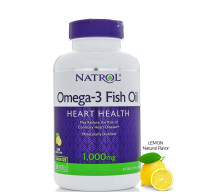 Natrol Omega-3 Fish Oil 1000 mg Softgels, Lemon 150 ea [047469040406]