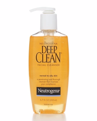 Neutrogena Deep Clean Facial Cleanser, Normal to Oily Skin 6.70 oz [070501060902]