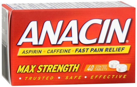 Anacin Tablets Max Strength 40 Tablets [363736211202]