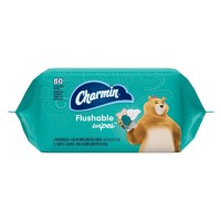 Charmin Fresh Mates Flushable Wipes Refill, Twin Pack, 80 ea [037000794684]