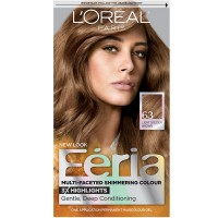L'Oreal Paris Feria Multi-Faceted Shimmering Color, Light Golden Brown [63]  1 ea [071249230114]