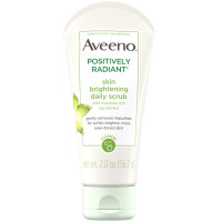 AVEENO Positively Radiant Skin Brightening Exfoliating Daily Facial Scrub with Moisture-Rich Soy Extract, Jojoba & Castor Oils Face Cleanser 2 oz [381371181926]