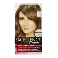 L'Oreal Paris Excellence Creme Haircolor,  Light Ash Brown [6A] (Cooler) 1 ea [071249210604]
