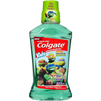 Colgate Kids Teenage Mutant Ninja Turtle Anticavity Fluoride Rinse, Turtle Power Bubble Fruit 16.90 oz [035000660473]