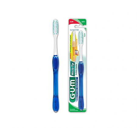 GUM Micro Tip Toothbrush Soft/Full 1 Each [070942127448]