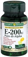 Nature's Bounty Vitamin E 200 IU Softgels Pure DL-Alpha 100 Soft Gels [074312017605]