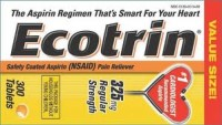 Ecotrin Regular Strength Safety Coated Enteric Aspirin Tablets 325 MG 300 ea [349692903795]