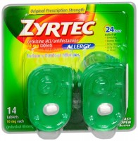 Zyrtec Allergy 10 mg Tablets Blister Pack 14 Tablets [312547204323]