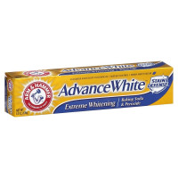 ARM & HAMMER Advance White Toothpaste with Baking Soda , Clean Mint 6 oz [033200186267]
