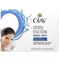 Olay Daily Deeply Clean 4-in-1 Water Activated Cleansing Face Cloths 33ct [075609041266]