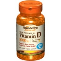 Sundown High Potency D3 Vitamin D 1000 IU Softgels 60 Soft Gels [030768199364]
