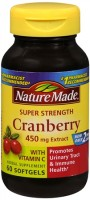 Nature Made Super Strength Cranberry Herbal Supplement 450 mg Extract Softgels 60 Soft Gels [331604142712]