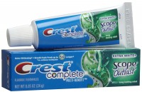 Crest Whitening + Scope Outlast Toothpaste, Long Lasting Mint 0.85 oz [037000228813]