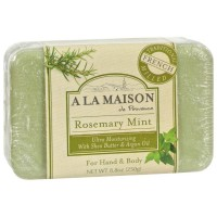 A LA MAISON Hand & Body Bar Soap, Rosemary Mint 8.80 oz [182741000287]
