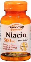 Sundown Naturals Niacin 500 mg Caplets Time Release 60 Caplets [030768607487]
