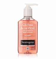 Neutrogena Oil-Free Acne Wash Face Cleanser, Pink Grapefruit 6 oz [070501053652]