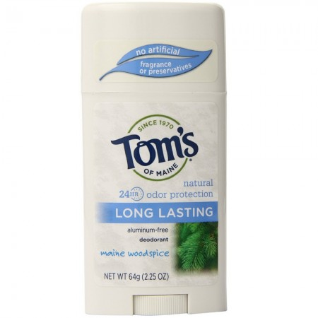Tom's of Maine Natural Deodorant Stick Woodspice 2.25 oz [077326642252]