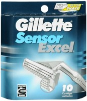 Gillette Sensor Excel Cartridges 10 Each [047400115484]