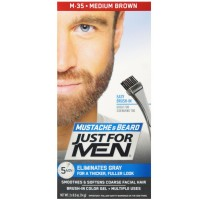 JUST FOR MEN Color Gel Mustache & Beard M-35 Medium Brown 1 ea [011509049032]