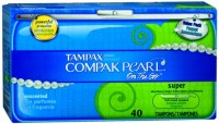 Tampax Compak Pearl Tampons Super Value Pack 40 Each [073010006928]