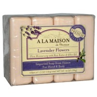A LA MAISON Bar Soap, 3.5 oz bars, Lavender Flowers 4 ea [817252010103]