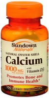 Sundown Calcium 1000 mg + D Tablets Natural Oyster Shell 100 Tablets [030768004989]