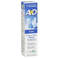 A+D Diaper Rash Cream, Zinc Oxide, with Aloe 1.50 oz [300851410011]